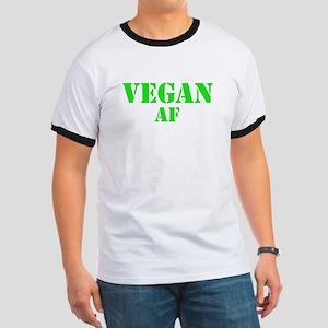 Vegan AF Green Ringer T