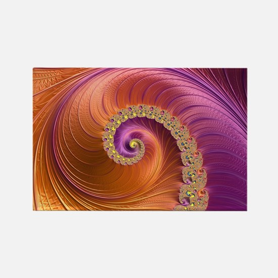 Cute Fractal art Rectangle Magnet