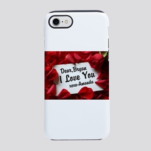 Personalize red rose iPhone 8/7 Tough Case
