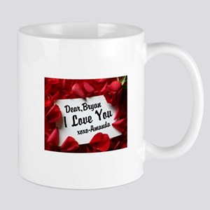 Personalize red rose Mugs