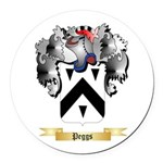 Peggs Round Car Magnet