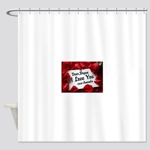 Personalize red rose Shower Curtain