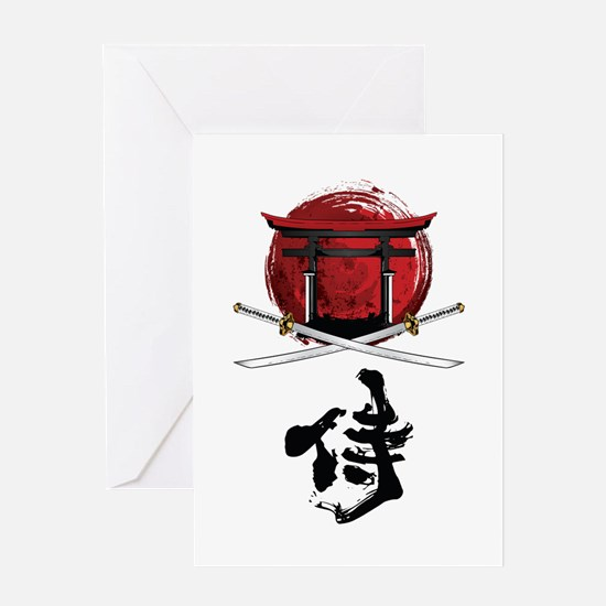 Unique Samurai Greeting Card
