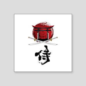 Samurai Katana Kanji and Tori Gate Sticker