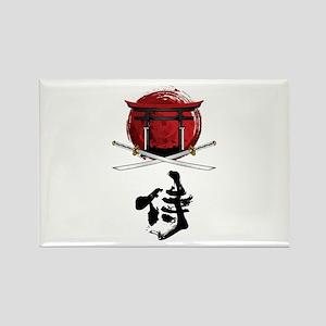 Samurai Katana Kanji and Tori Gate Magnets