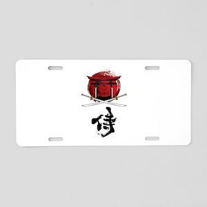 Samurai Katana Kanji and To Aluminum License Plate