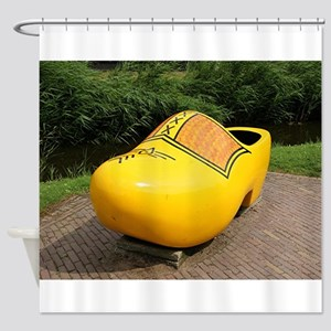 Giant yellow clog, Holland Shower Curtain