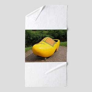 Giant yellow clog, Holland Beach Towel