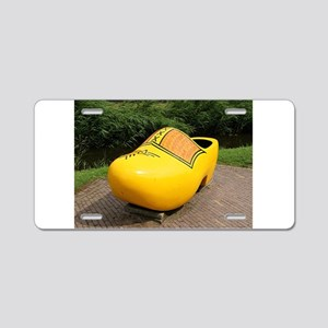 Giant yellow clog, Holland Aluminum License Plate