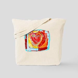 HEART LIGHT HEARTED ART Tote Bag