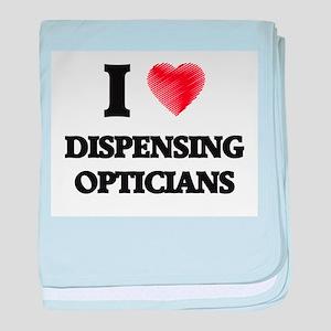 I love Dispensing Opticians (Heart ma baby blanket