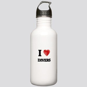 I love Divers (Heart m Stainless Water Bottle 1.0L