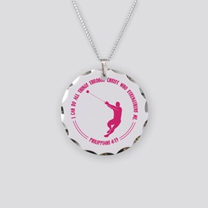 HAMMER, PHIL.4:13 Necklace Circle Charm