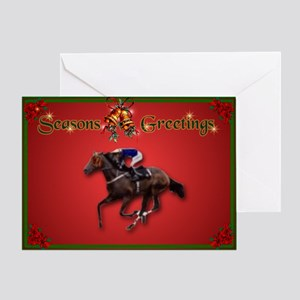 Race Horse Greeting Card