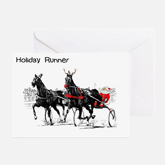 Santa Racing Greeting Card
