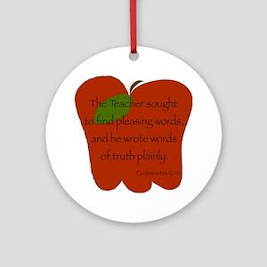 Ecclesiastes 12:10 Round Ornament