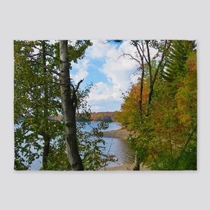 Lake View Scene 5'x7'Area Rug