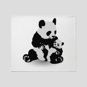 Panda & Baby Panda Throw Blanket