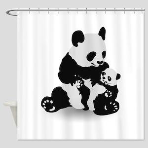 Panda & Baby Panda Shower Curtain