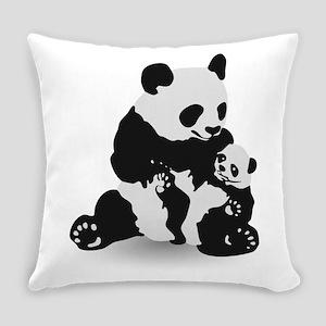 Panda & Baby Panda Everyday Pillow