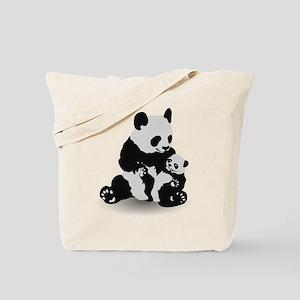Panda & Baby Panda Tote Bag