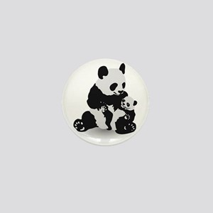 Panda & Baby Panda Mini Button