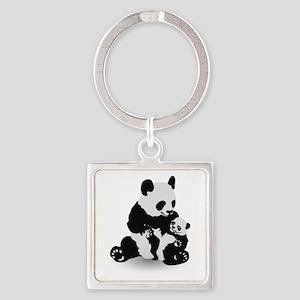 Panda & Baby Panda Keychains