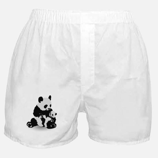 Panda & Baby Panda Boxer Shorts