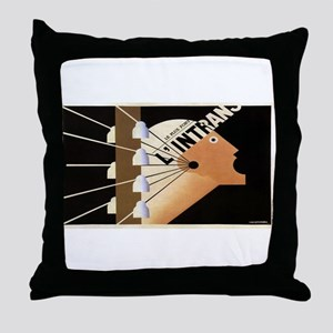 Vintage poster - L'Intrans Throw Pillow