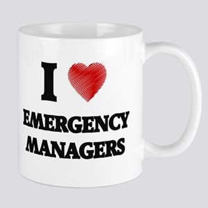 I love Emergency Managers (Heart made from wo Mugs