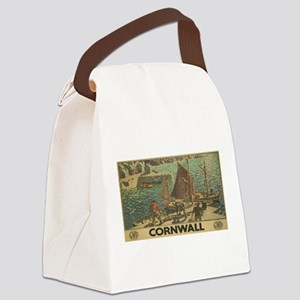 Vintage poster - Cornwall Canvas Lunch Bag