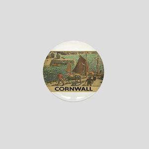 Vintage poster - Cornwall Mini Button