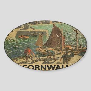 Vintage poster - Cornwall Sticker