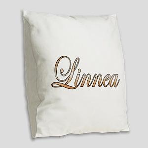 Gold Linnea Burlap Throw Pillow