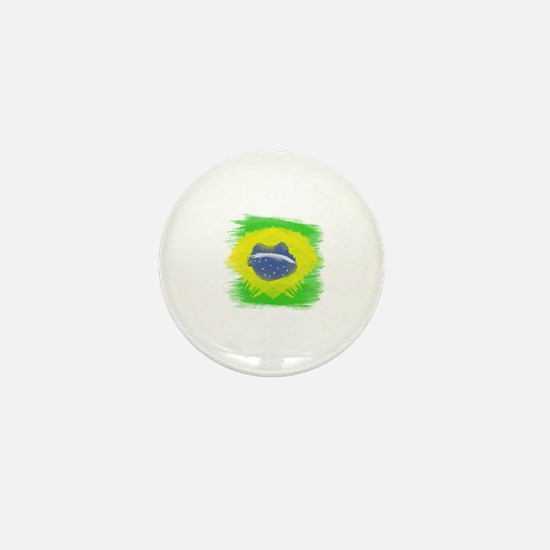 Unique Brazil flag Mini Button