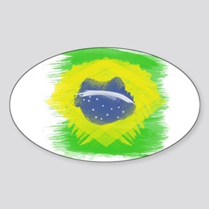Brazil Flag Brasilian Rio Sticker