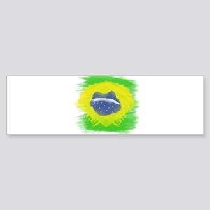 Brazil Flag Brasilian Rio Bumper Sticker