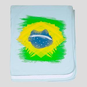 Brazil Flag Brasilian Rio baby blanket