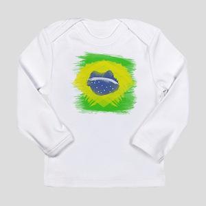Brazil Flag Brasilian Rio Long Sleeve T-Shirt