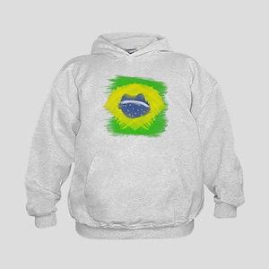 Brazil Flag Brasilian Rio Kids Hoodie