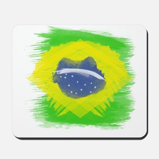 Brazil Flag Brasilian Rio Mousepad