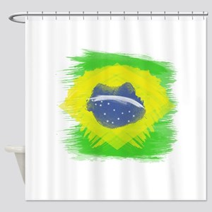 Brazil Flag Brasilian Rio Shower Curtain