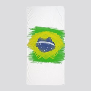 Brazil Flag Brasilian Rio Beach Towel