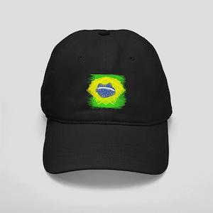 Brazil Flag Brasilian Rio Black Cap