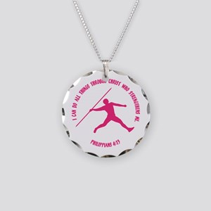 JAVELIN, PHIL.4:13 Necklace Circle Charm