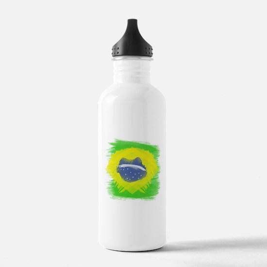 Brazil Flag Brasilian Water Bottle