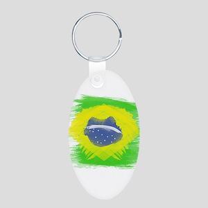 Brazil Flag Brasilian Rio Keychains