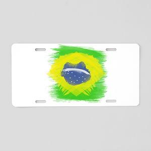 Brazil Flag Brasilian Rio Aluminum License Plate