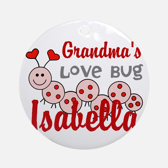 Love Bug Personalize Round Ornament