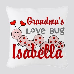 Love Bug Personalize Woven Throw Pillow